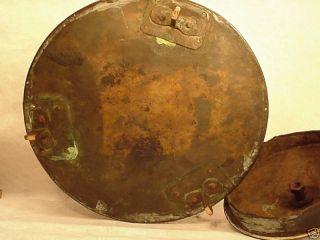 Victorian Large Copper Lidded Coal Bucket Swing Handle photo