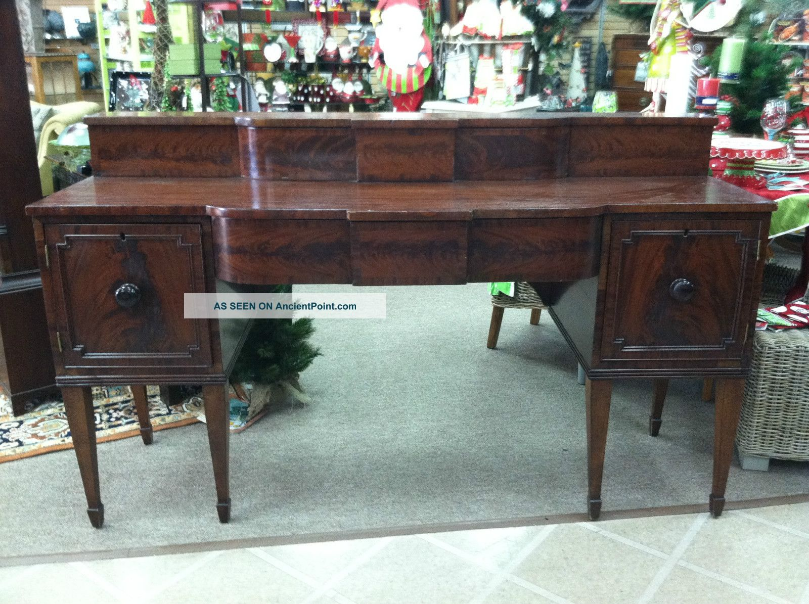 Gorgeous Antique Mahogany Federal Sideboard Circa 1820 1800-1899 photo