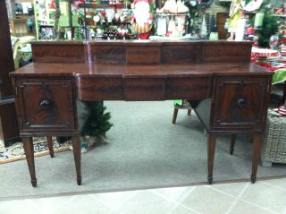 Gorgeous Antique Mahogany Federal Sideboard Circa 1820 photo
