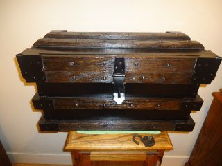 Antique Safe Strong Box Vanderman 1897 photo