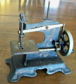 Antique 1800s? Small Metal Working Primitive Sewing Machine No.  478305 photo