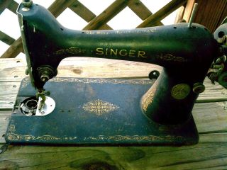 Antique Vtg 1930 Singer Sewing Machine From Treadle - Good Condition - Needs Cleand photo