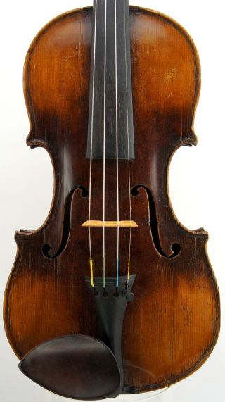 Very Good Old Antique German Violin,  19th Century,  Grafted Scroll, photo