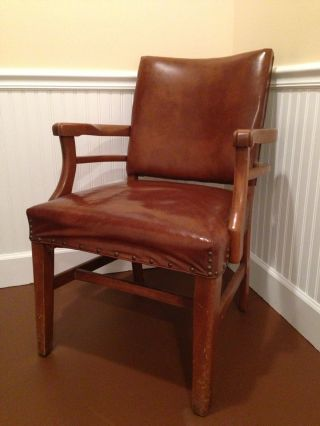 Quite Handsome Vintage Traditional Office Armchair By Robert James Circa 1960 photo