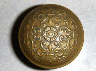 Antique Victorian Ornate Wrought Bronze Doorknob photo