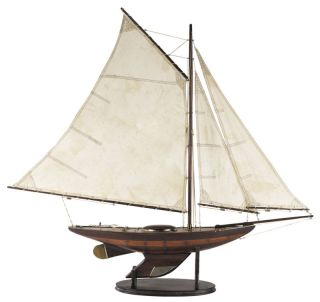 Nautical Antiqued Yacht Ironsides Wooden Model Sailboat photo