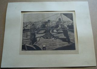 Charles E.  Pont Pencil Signed Print Woodblock ?