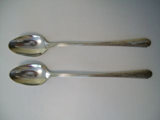 (2) H&t Mfg Co.  Wentworth Ice Tea Spoons photo