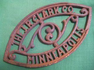 Antique Cast Iron Trivet Advertising Trivit The J.  R.  Clark Co Minneapolis Trivit photo