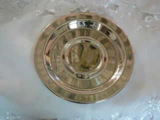 Vintage Wm Rogers Silver Co Silver Plate Round Dish photo