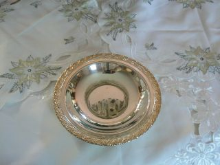 Lovely Vintage Wm Rogers Silver Plate Candy Dish photo