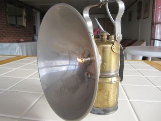Old Justrite Miners ' Carbide Superintendent ' S Lamp photo