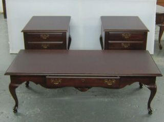 Queen Ann 3pcs Set Of Living Room Tables photo