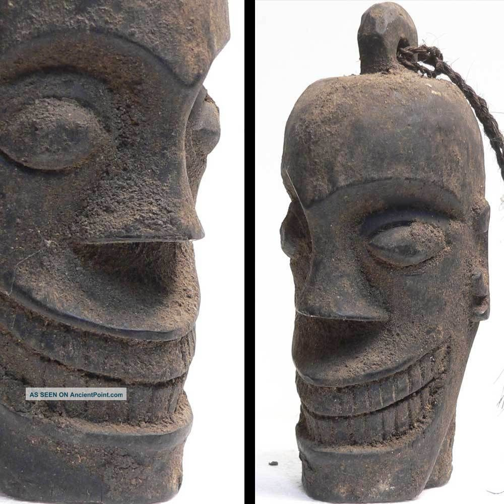 Antique Ancestor Head Skull Statue Dayak Borneo Indonesia Tribal Art ...