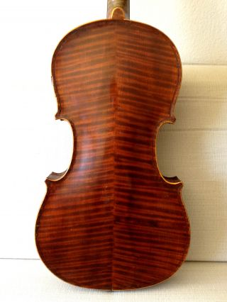 Early 1900s Old Antique German Violin W/ Gorgeous Back - Ships In Vintage Case photo