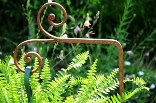 Birdfeeder Wind Chime Iron Plant Pot Holder Made In Usa photo
