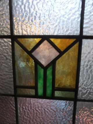 Antique Arts & Crafts Stained Glass Window photo