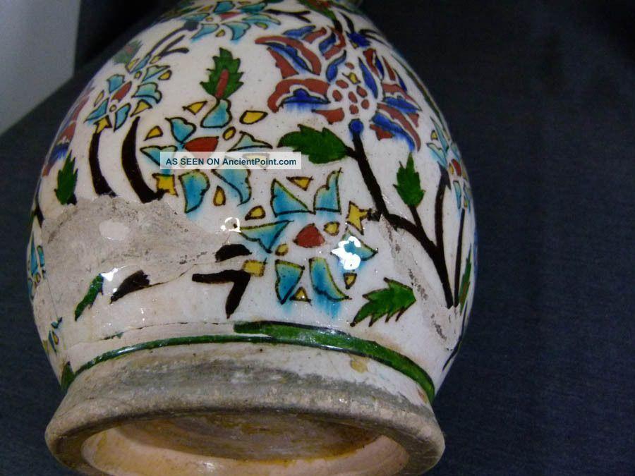18c Islamic Ottoman Turkey Iznik Kutahya Ceramic Pottery 17 Vase