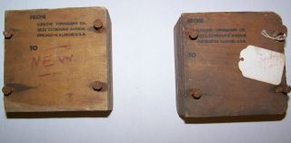2 Vintage Letter Press Printing Linotype Ludlow Supersurfacer Cutters Orig Boxes photo