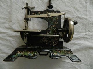 Antique Toy Sewing Machine Made In Germany Ex photo