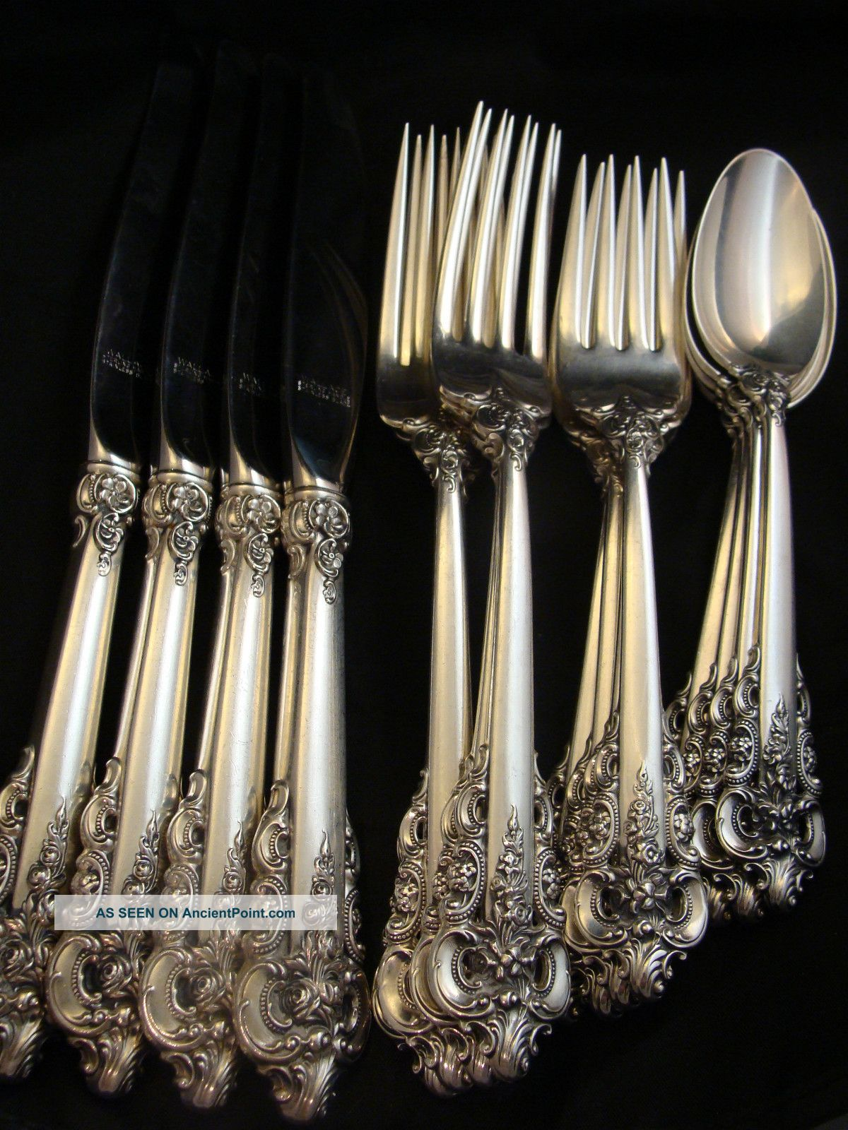 Piece Setting A Wallace Grand Baroque Sterling Silver Four 4