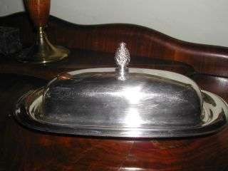 Wm Rogers 987 Silver Butter Dish (2 Piece) photo