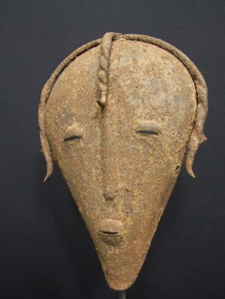 African Tribal Dogon Metal Mask photo