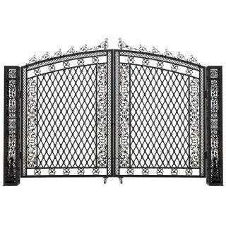 Gorgeous Cast Aluminum Vanderbilt Large Gate W/2 Posts photo