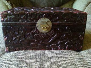 Priced Slashed Again Low As It Goes Vintage Hand Carved Box photo