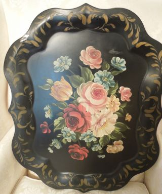 Vintage Hand Tole - Painted Tray 24