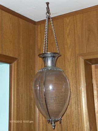 Hanging Drugstore Show Globe,  Whitall Tatum 1891,  Patina,  Rare Metal Finish photo