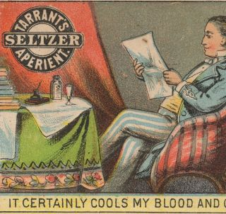 1800 ' S Blood Brain Cure Tarrant ' S Seltzer Aperient Library Ink Bottle Trade Card photo
