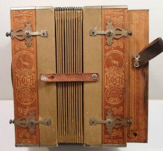 Late 19th - - Early 20th Century Koch Harmonica Squeezebox - Awesome photo