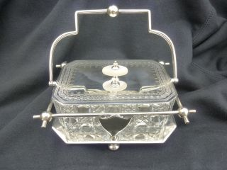 1880 Silver Plate Butter/? Dish,  Mother Of Pearl,  Good Condition photo