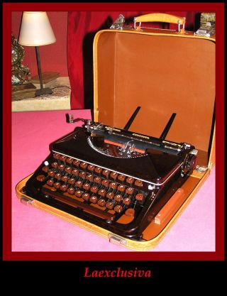 Fabulous Antique Vtg Express Typewriter Of 1950s;.  60 Years Old And Works Perfect photo