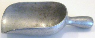 Vintage Aluminum 1 Oz Candy Store Scoop Weighing A Penny Of Candy On A Scale Old photo
