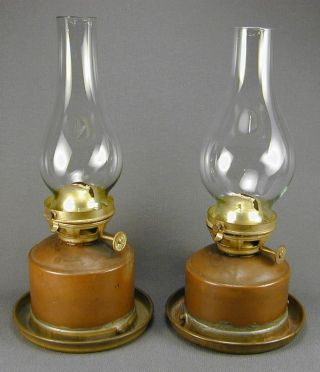 Pair Of Perko Nautical Marine Lantern Oil Lamp Inserts photo