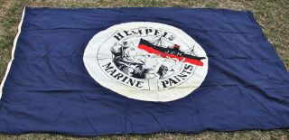 Very Big Vintage Hempel ' S Marine Paint Ship ' S Flag Maritime Nautical Ship Marine photo