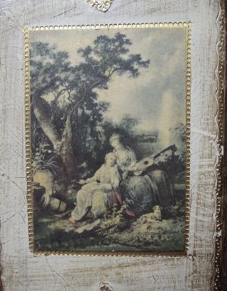 Vintage Italian Florentine Toleware Wall Plaque 12 - 3/4