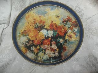 Antiques Vintage Toleware Art Renoir Floral Collectible photo