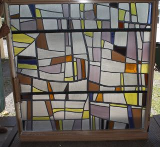 Authentic Robert Sowers Stained Glass - Modern Art,  Mural - Room Divider photo