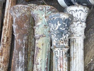 Antique Fluted Cast Iron Columns - Fluted And Structural photo