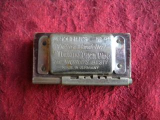 Vintage Hohner Violin Mandolin Pitch Pipe No.  P1 Made In Germany photo