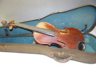 Antique Reproduction Italian 1702 Francesco Mantegazza Broken Violin Body Parts photo