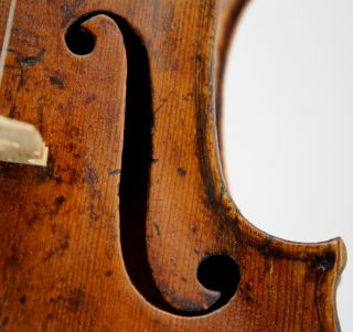 Very Good And Interesting Antique Mid - 19th Century Violin - photo