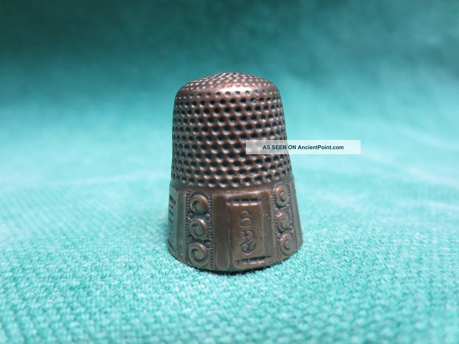 Antique 8 Sterling Silver Thimble Chatelaine? Thimbles photo