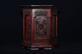 Chinese Ming Dynasty Style Of Mini Rosewood Brush Pot - - F000005 photo