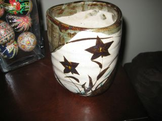 Antique Japanese Furukawa Studio Pottery Vase,  Circa 1960s Asian photo