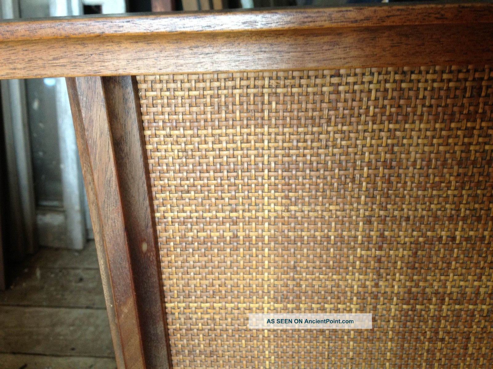 Picture of: Danish Modern Mid Century King Headboard Bed Walnut W Teak Caning Pick Up Only