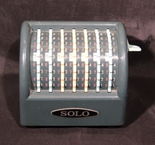 Solo Adding Machine - Vintage Calculator W/ Dust Cover photo
